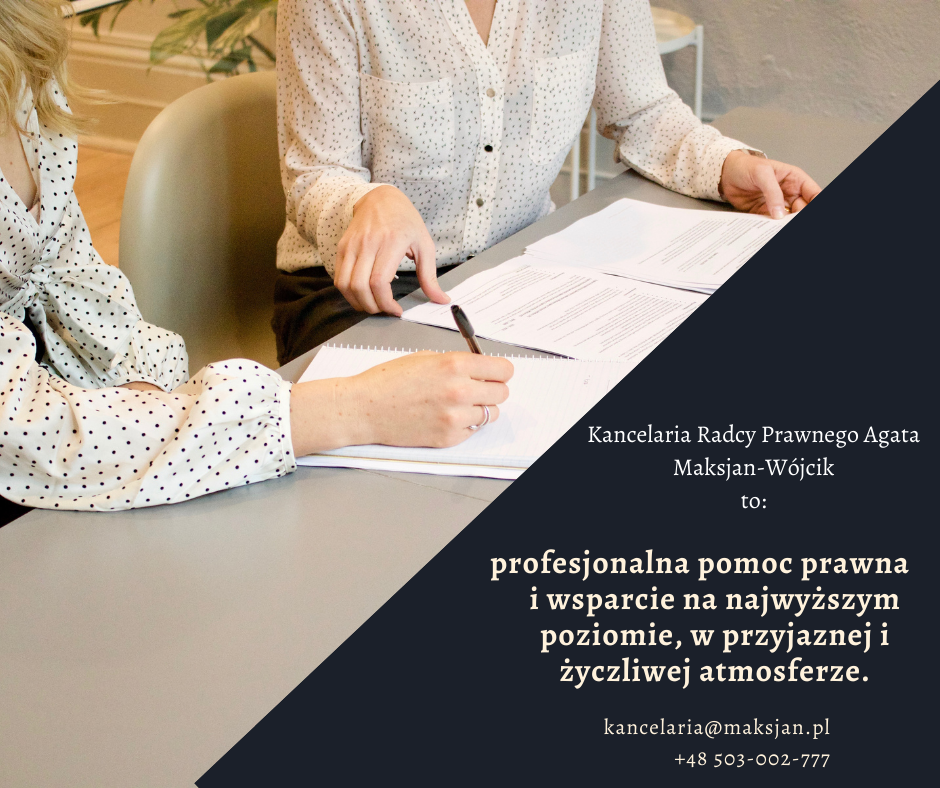Kancelaria Radcy Prawnego Agata Maksjan-Wójcik. Odszkodowania - kompleksowa pomoc prawna w życzliwej i przyjaznej atmosferze
